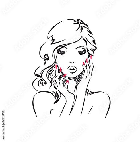 Obraz na Szkle Beauty Portrait