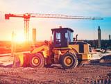 Fototapety bulldozer on construction site