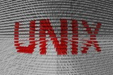 binary code of the unix operating system poster