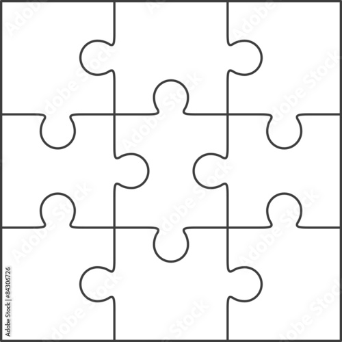 jigsaw puzzle template for word - jigsaw puzzle blank template 3x3 stock image and royalty