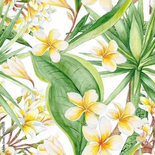 Stoffe zum Nähen Exotische Pflanzen-Muster