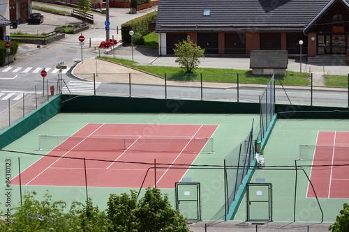 Fototapeta Two tennis courts