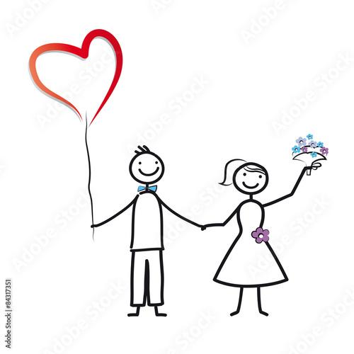 Gamesageddon Hochzeit Brautpaar Mit Herzluftballon Und