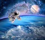Fototapeta Astronaut Spaceman Planet Saturn