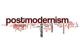Postmodernism word cloud concept poster