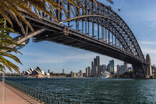 Poster Sydney mit Harbour bridge und Opera