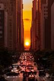 Fototapety Manhattanhenge in New York City along the 42nd street