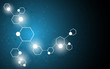 vector science concept molecular design abstract background