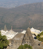 Temple complex on the holy Girnar top in Gujarat poster