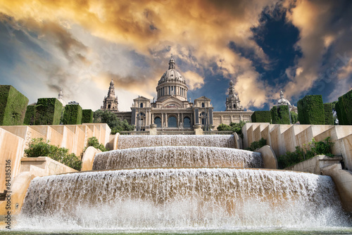 Papiers peints Barcelone The Palau Nacional