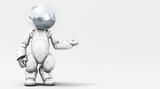 Robot cibernetico grigio
