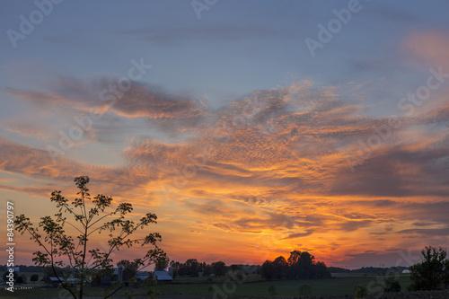 Poster rural Ohio sunset