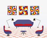 Modern living room - 84399302