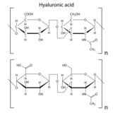 Structure of hyaluronic acid poster