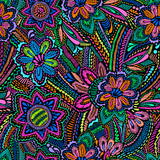 Embroidery floral design ~ seamless background - 84405317