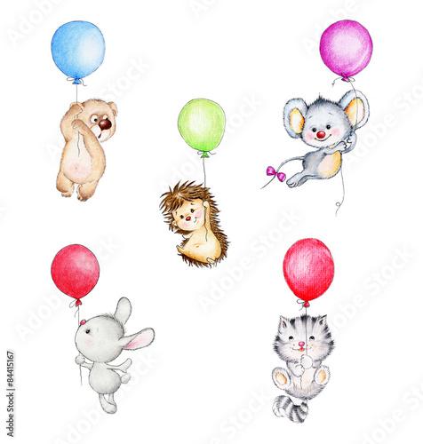 zestaw-uroczych-zwierzatek-plywajace-na-balony