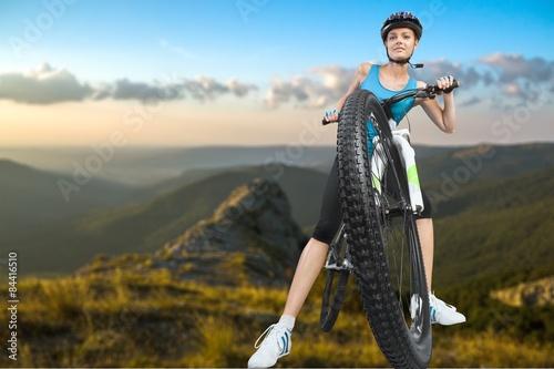 mata magnetyczna Jazda na rowerze, wypożyczalnia rowerów, jazda na rowerze.