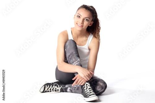 Poster Sitzendes Mädchen