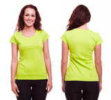 Young woman in green t-shirt