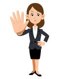 会社で働く女性の止める仕草