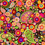 Fotoroleta Colorful floral wallpaper with hippie symbolic