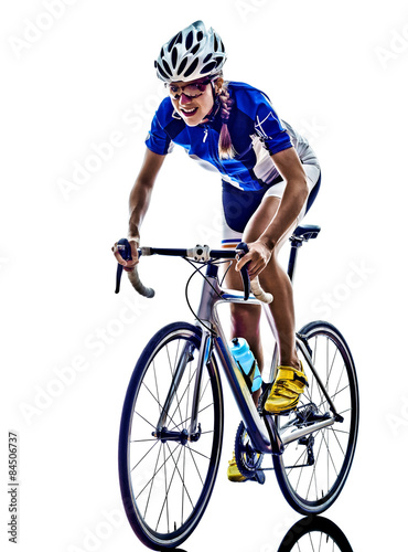 Poster, Tablou woman triathlon ironman athlete cyclist cycling