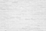 Fototapety White grunge brick wall texture background