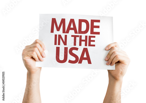 Made in the USA card isolated on white Poster