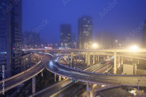 Foto op Canvas Europa City overpass, Shanghai