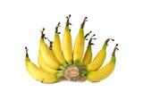 ripe small Cavendish banana on white background poster