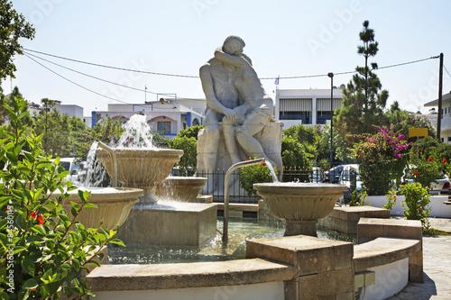 Fountain in Faliraki. Rhodes island. Greece