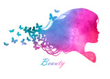 Silhouette_head_with_watercolor_hair_Vector_illustration_of_woma
