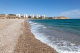 Coast in Puerto de Mazarron, Region Murcia, Costa Calida, Spain poster
