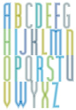 Colorful geometric decorative splicing font, letters for greetin poster