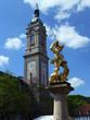 Leinwanddruck Bild - Marktbrunnen in Eisenach