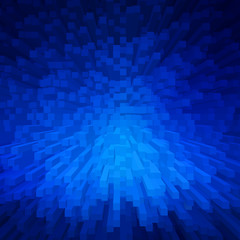blue extrude geometric abstract background for technology