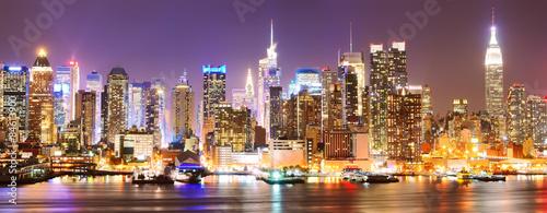Zdjęcia na płótnie, fototapety, obrazy :  Manhattan skyline at night.