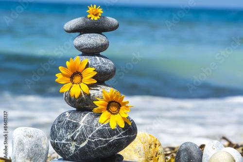 Yaratıcı taşları tasarımlar & zen Poster