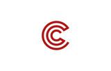 Letter C Logo vector alphabet design element template. ABC conce - 84621588