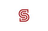Letter S Logo vector alphabet design element template. ABC conce - 84621592