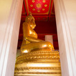 Golden color Buddha Statue in the temple