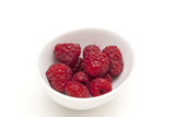 A bowl of raspberries - 84639783