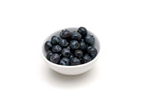 A bowl of blueberries - 84639798