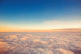Fototapety Flying above the clouds. view from the airplane