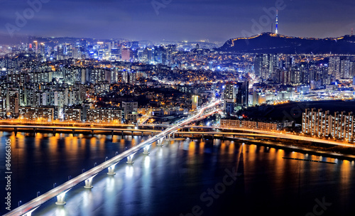 Foto op Canvas Seoel Seoul at night, South Korea