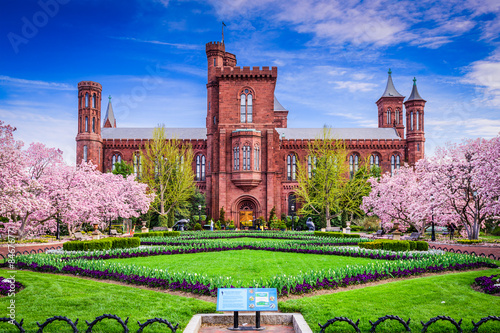 Smithsonian Building in Washington DC, USA. Poster