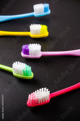 Set of colorful toothbrushs - 84678333
