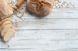 Fotoroleta Bread and bakery background
