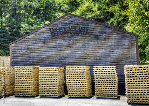 small sticks of wood in piles Poster