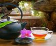 Teegenuss in einem chinesischen Garten